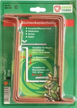 Green Tower Blumenkastenhalter braun